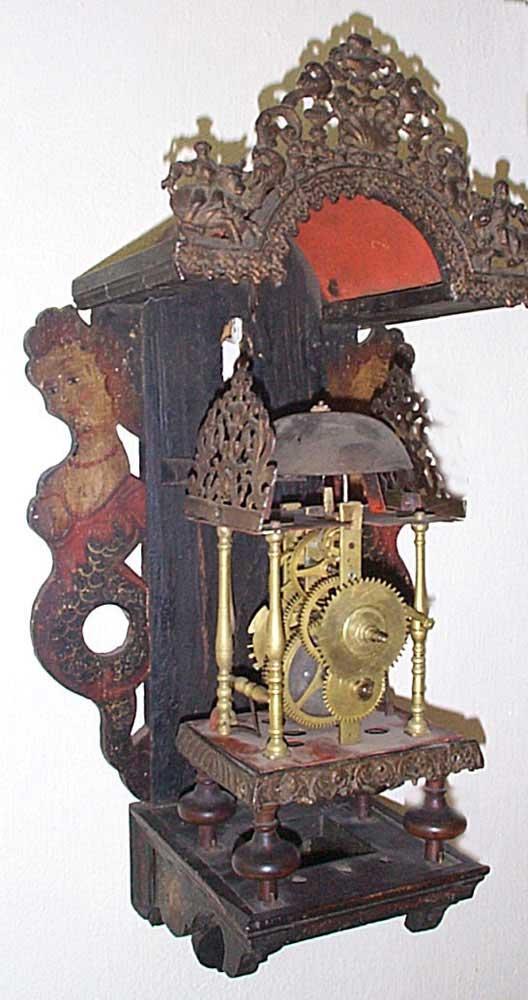 Clock Dutch Friesian Stool Clock From The 18th Century